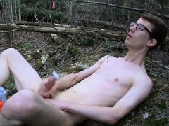 Geeky Young Twink Sacha Gets So Into When He's Jacking Off