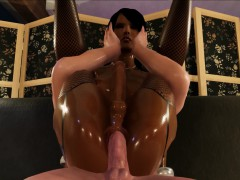 Black Futanari Shemale Babe In 3D Porn Game Loves Anal!