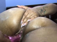 masterbating with big toys laylared takes it all in