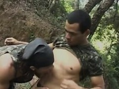 Two Hot Military Gays Fucking Each Other In The Jungle