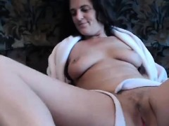 Amateur Mature Brunette Sexy Lingerie Masturbation