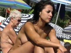 this nudist babes naked at the beach
