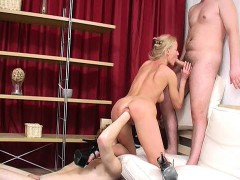 Blonde Babe Xenia Brutal Anal Fisted