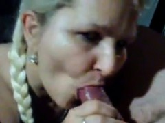 mature blonde lady sucks and bangs young penis