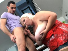 Big Tits Blonde Gives Head And Rides His Dick