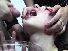 Premium Bukkake - Nicole Swallows 59 Huge Mouthful Cumshots