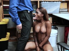 Black Teen Busted And Fucked By A Mall Cops Big Cock