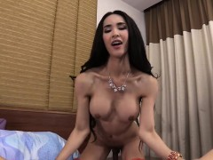 Big Boobs Ladyboy In Lingerie Ass Fucked By A Hung White Guy