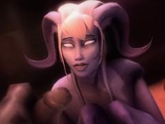 Cartoon 3d World Of Big Orcs And Sexy Dark Elves