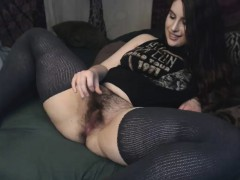 brunette-with-hairy-pussy-fucks-in-white-stockings