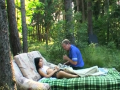 steamy old and young action with obese guy banging chick
