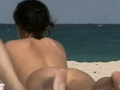 public beach nudist blonde voyeur video Hot