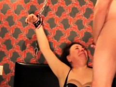 mature slave fed with cum