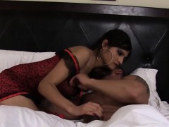 Bigtits Shemale Drilled After Slow Foreplay