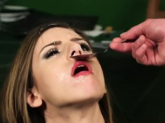 Foxy Doll Gets Cum Load On Her Face Eating All The Sperm84up
