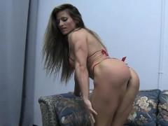 Sexy Female Bodybuilder Maria Garcia Strips Off Her Dress