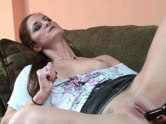Horny MILF Autumn Bodell is playing with a pair of toys