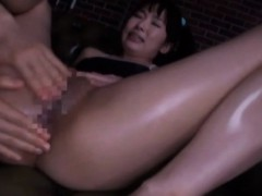 asian girl fingering her hairy twat