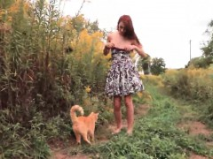 Teen ftvgirls Courtney at a farm and we see her quickly lose