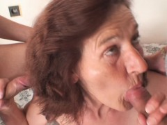 old bitch is nailed by two young dudes WWW.ONSEXO.COM