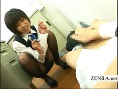 japanese-office-lady-teases-cfnm-masturbating-coworker