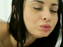 slurping guys pecker makes beauty very moist down beneath