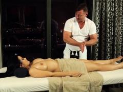 massaged babe gets plowed
