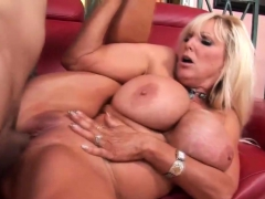 iamporn – monster boobed blonde milf nails on couch