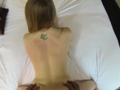 Pretty Blonde Gets Mouthful Of Sperm