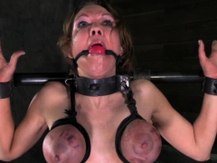 sexy slave restrained and tormented