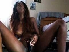 Long Legged Ebony's Orgasm