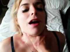 Holiday Slut Teases And Sucks - She Gets What She Deserves