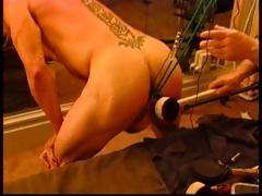 suspended-bodybuilder-bottom-with-electro-butt-plug-ball