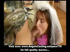 brown-haired-bride-doing-blowjob