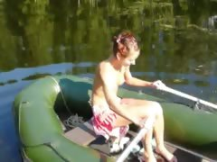 amateur-italian-natasha-in-the-boat