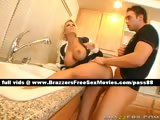 Sexy blonde mature slut in the kitchen