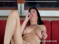 mature-hot-pussy-rubbing-and-dildo-teasing
