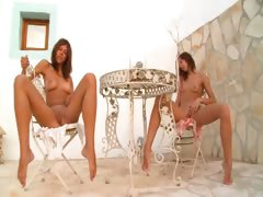 two-russian-cheerleaders-naked-outdoor