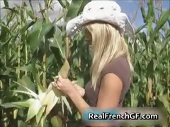 Busty Teenage Gf Pussy Banged In Corn Part5