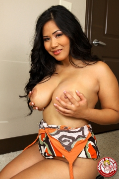 Curvy asian milf