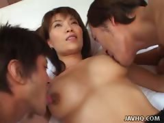 Cute Japanese Teen Invites 2 Men For Threesome Uncensored