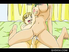 Hentai Wild Girls Licking And Fucking Twats With Strapon