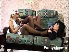 Vibrant Chick Pantyhose Blowjob Porn