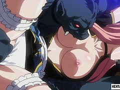 caught hentai slut gets brutally banged by monsters