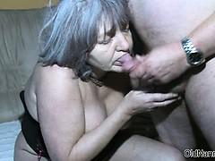 Dirty Old Woman Goes Crazy Sucking Part4