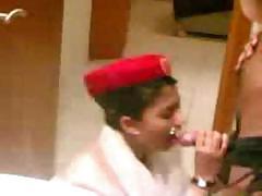 Arab Emirate Steward Cabin Blowjob Before The Flight