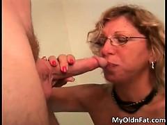 Nasty Blonde Bitch Sucks Stiff Cock Part5