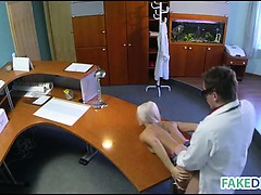 Birthmark Examination On A Hot Blonde With Penis