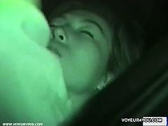 Outdoor Voyeur Car Sex Filming