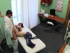 Petite Brunette Patient Getting Fucked By Her Doctor